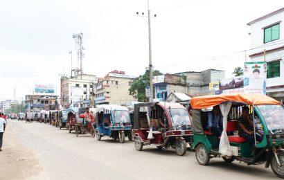 নাটোর শহরে যান চলাচলে 'নজিরবিহীন' শৃঙ্খলা!